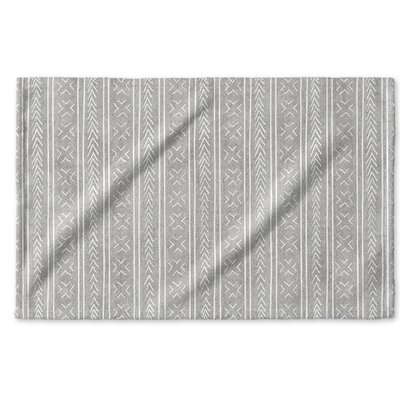 Dalton Geometric Cloth Hand Towel with Single Sided Print Color: Grey
