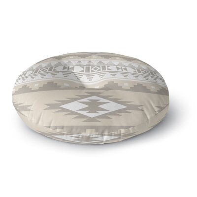 Cherokee Round Floor Pillow Size: 26 H x 26 W x 12.5 D, Color: Tan, Brown