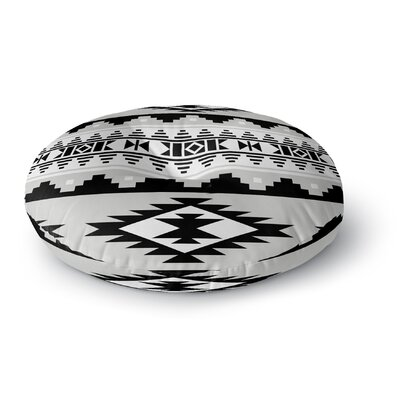 Cherokee Round Floor Pillow Size: 23 H x 23 W x 9.5 D, Color: Grey