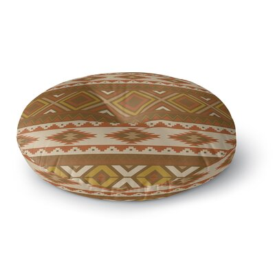 Sedona Round Floor Pillow Size: 26 H x 26 W x 12.5 D, Color: Brown/Tan/Red/Gold