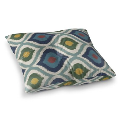 Ikat Ogee Square Floor Pillow Size: 23 H x 23 W x 9.5 D
