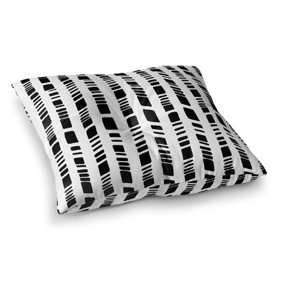 "Baby Tribal Floor Pillow Size: 23"" H x 23"" W x 9.5"" D, Color: Black/ White FPI-FPS23-23X23-JAC081"