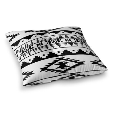 Cherokee Square Floor Pillow Size: 26 H x 26 W x 12.5 D, Color: Black