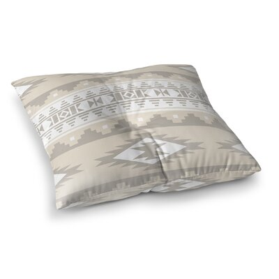 Cherokee Square Floor Pillow Size: 26 H x 26 W x 12.5 D, Color: Tan, Brown