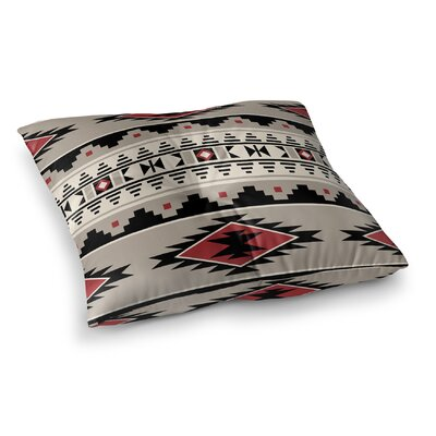 Cherokee Square Floor Pillow Size: 26 H x 26 W x 12.5 D, Color: Red, Tan