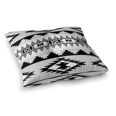 Cherokee Square Floor Pillow Size: 26 H x 26 W x 12.5 D, Color: Grey
