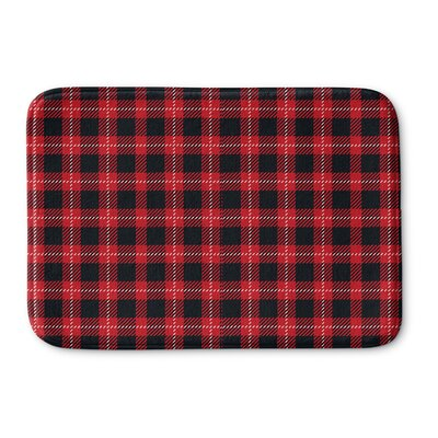 Christmas In Plaid Memory Foam Bath Rug Size: 17 W x 24 L