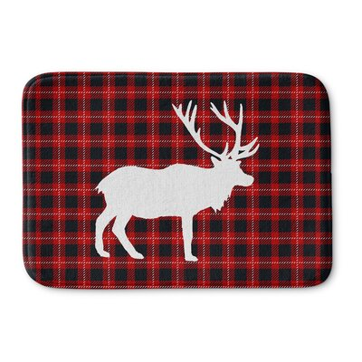 Deer Plaid Memory Foam Bath Rug Size: 17 W x 24 L