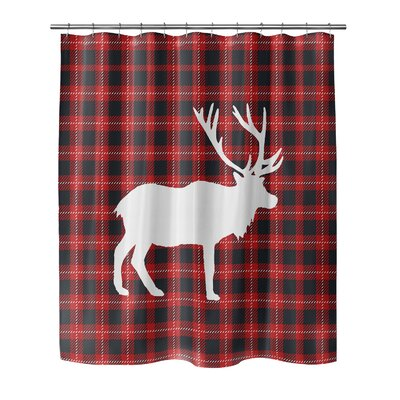 Deer Plaid 90 Shower Curtain