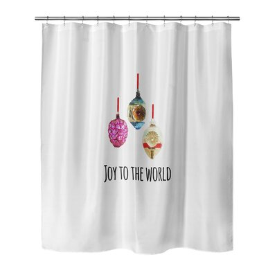 Joy to the World 90 Shower Curtain