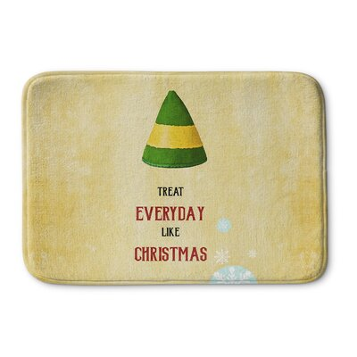 Everyday Christmas Memory Foam Bath Rug Size: 24 W x 36 L