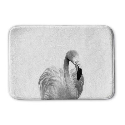 Trumbauer Flamingo Memory Foam Bath Rug Size: 17 W x 24 L