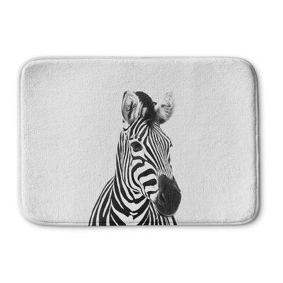 Trumble Zebra Memory Foam Bath Rug Size: 24 W x 36 L