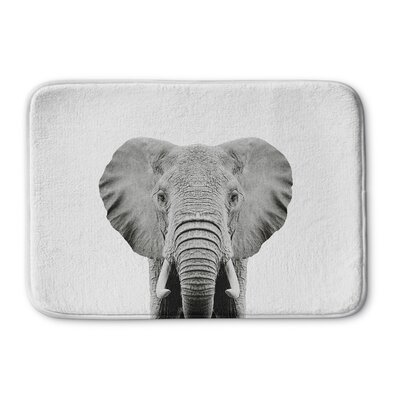 Tseng Elephant Memory Foam Bath Rug Size: 24 W x 36 L