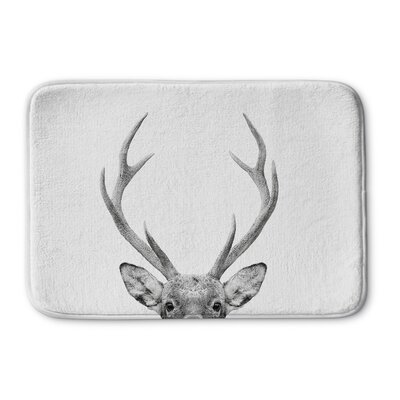 Willsbridge Deer Memory Foam Bath Rug Size: 24 W x 36 L