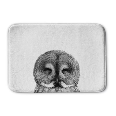 St George Owl Memory Foam Bath Rug Size: 24 W x 36 L