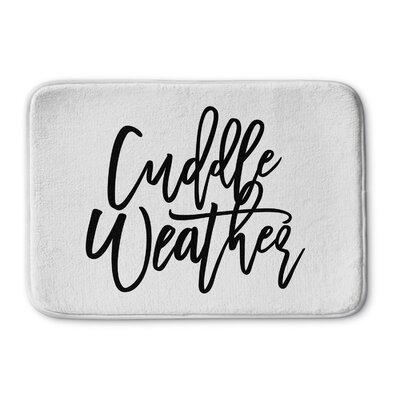 Colburn Cuddle Weather Memory Foam Bath Rug Size: 17 W x 24 L