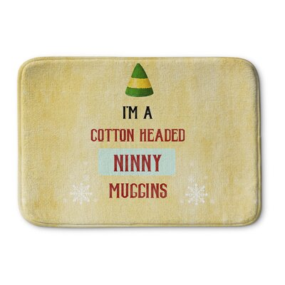 Ninny Muggins Memory Foam Bath Rug Size: 17 W x 24 L