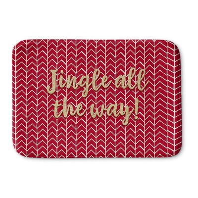 Jingle All The Way Memory Foam Bath Rug Size: 17 W x 24 L
