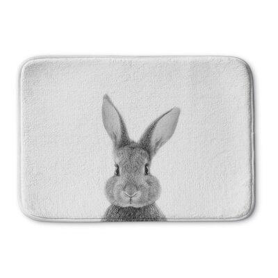 Bunbury Bunny Memory Foam Bath Rug Size: 17 W x 24 L