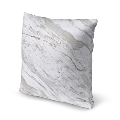 Dalessio Contemporary Marble Throw Pillow Size: 16 H x 16 W