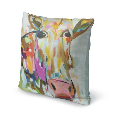 Simonska Moo Throw Pillow Size: 16 H x 16 W