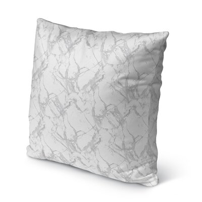 Dalessio Square Marble Outdoor Throw Pillow Size: 16 H x 16 W