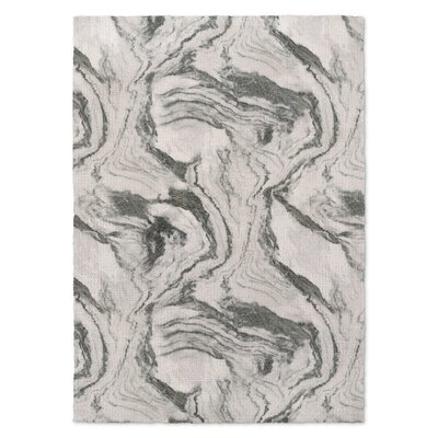 Rusch Marble Gray Area Rug Rug Size: Rectangle 5 x 7