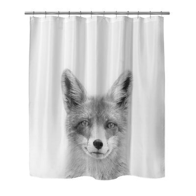 Fox Shower Curtain Size: 72 H x 70 W