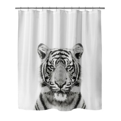 Bemot Tiger Shower Curtain Size: 90 H x 70 W
