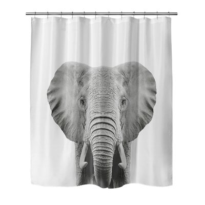 Bemot Elephant Shower Curtain Size: 90 H x 72 W