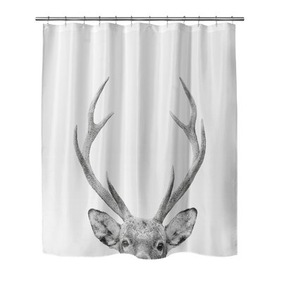 Applegate Deer Shower Curtain Size: 90 H x 72 W