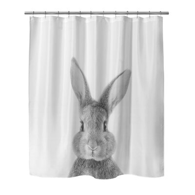 Bunny Shower Curtain Size: 90 H x 72 W