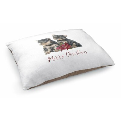Josie Yorkshire Terrier Merry Christmas Pet Pillow