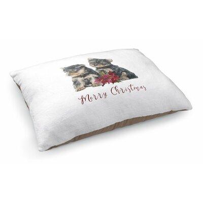 Josie Yorkshire Terrier Merry Christmas Pet Pillow