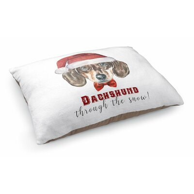 Dachshund Through The Snow Pet Pillow