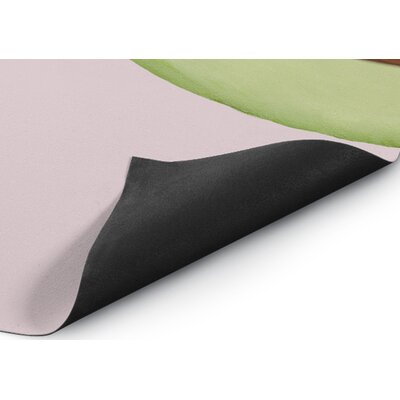 Pericles Avocado Top Pink Indoor/Outdoor Area Rug Size: Round 8 x 8