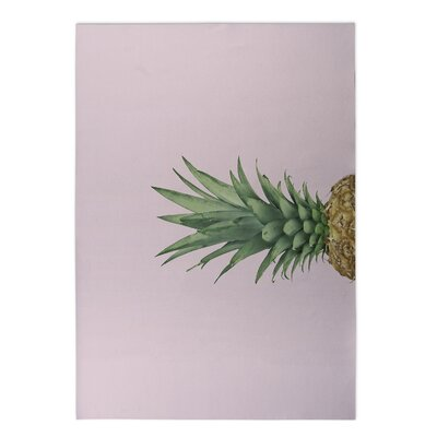 Giolou Pineapple Top Pink Indoor/Outdoor Area Rug Size: Round 8 x 8