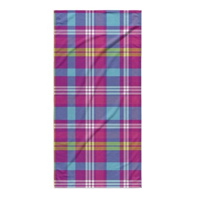 Minks Plaid Beach Towel