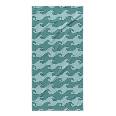Minnick Waves Beach Towel