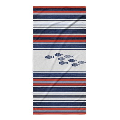 Lima Blue Fish Beach Towel