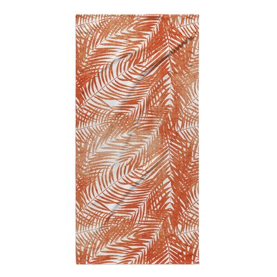 Joya Orange Palm Beach Towel