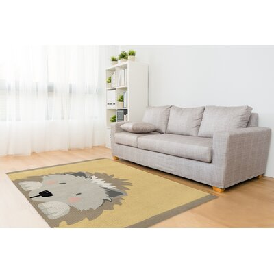 Junior Hedgehog Gray/Beige Area Rug Size: Rectangle 3' x 5'
