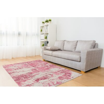 Tori Patchwork Rectangle Pink/Ivory Area Rug Rug Size: Rectangle 2 x 3