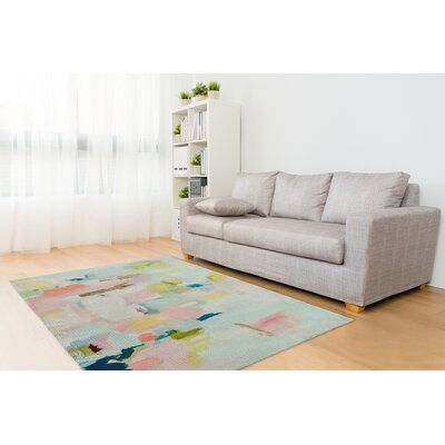 Nordquist Blue/Pink/Green Area Rug Rug Size: Rectangle 2 x 3