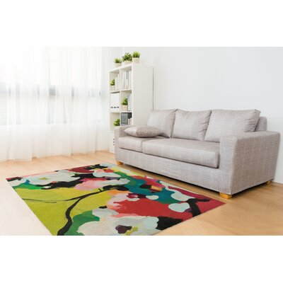Canup Red/Green/Yellow Area Rug Rug Size: Rectangle 8 x 10