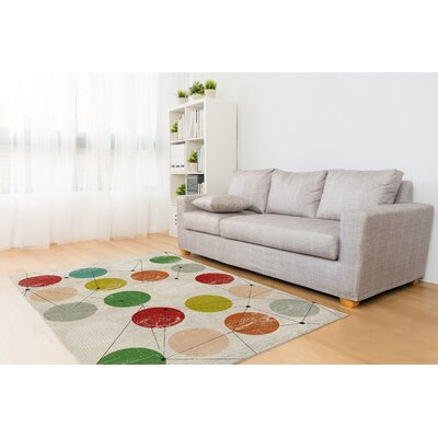 Wein Beige Area Rug Size: Rectangle 5 x 7