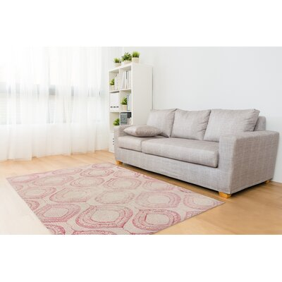 Annabella Pink Area Rug Size: Rectangle 3 x 5