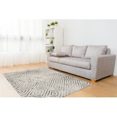 Shala Distressed Gray/White Area Rug Size: Rectangle 8 x 10