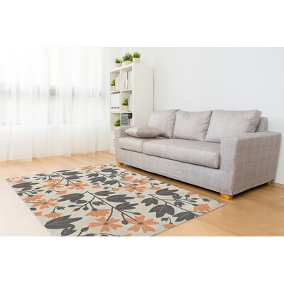 Bunny Love Deux Orange/Gray Area Rug Rug Size: Rectangle 2 x 3